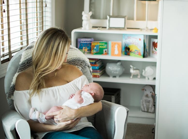 newborn in nursary